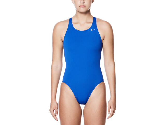 Nike Swim Poly Core Solid Fast Back One Piece Damer, game royal
